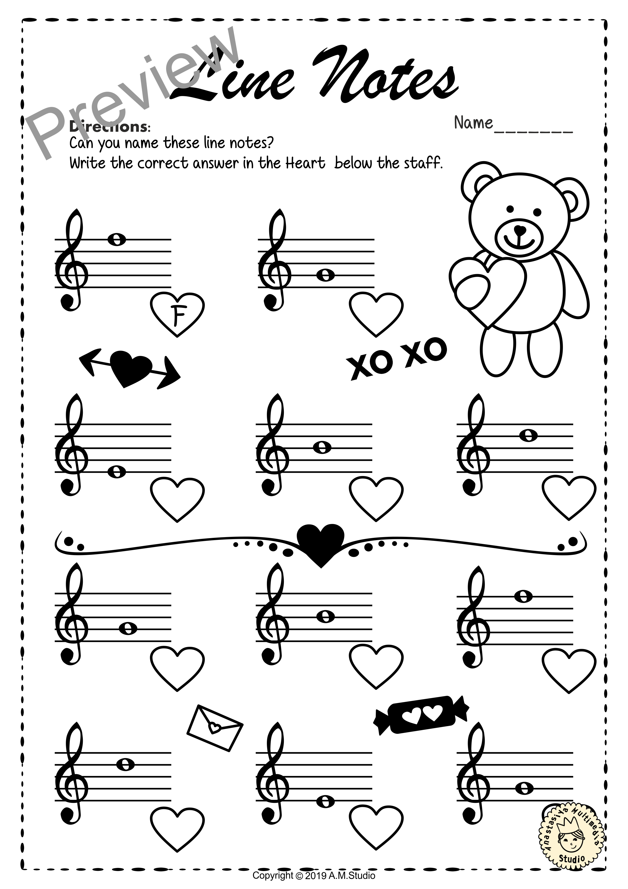 Valentine S Day Treble Clef Note Reading Worksheets Anastasiya Multimedia Studio Music Lessons For Kids Music Lesson Plans Piano Lessons [ 3509 x 2480 Pixel ]