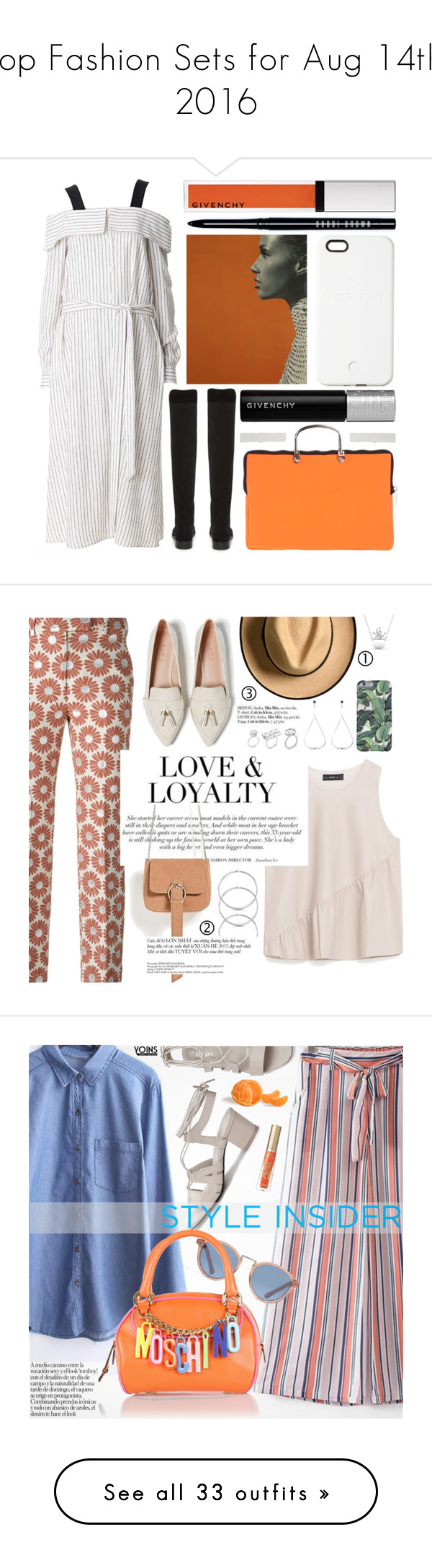 """""""Top Fashion Sets for Aug 14th, 2016"""" by polyvore ❤ liked on Polyvore featuring TIBI, Stuart Weitzman, Leghilà, Givenchy, SnapLight, Bobbi Brown Cosmetics, minimalistic, pinstripes, Maison Margiela and Zara"""