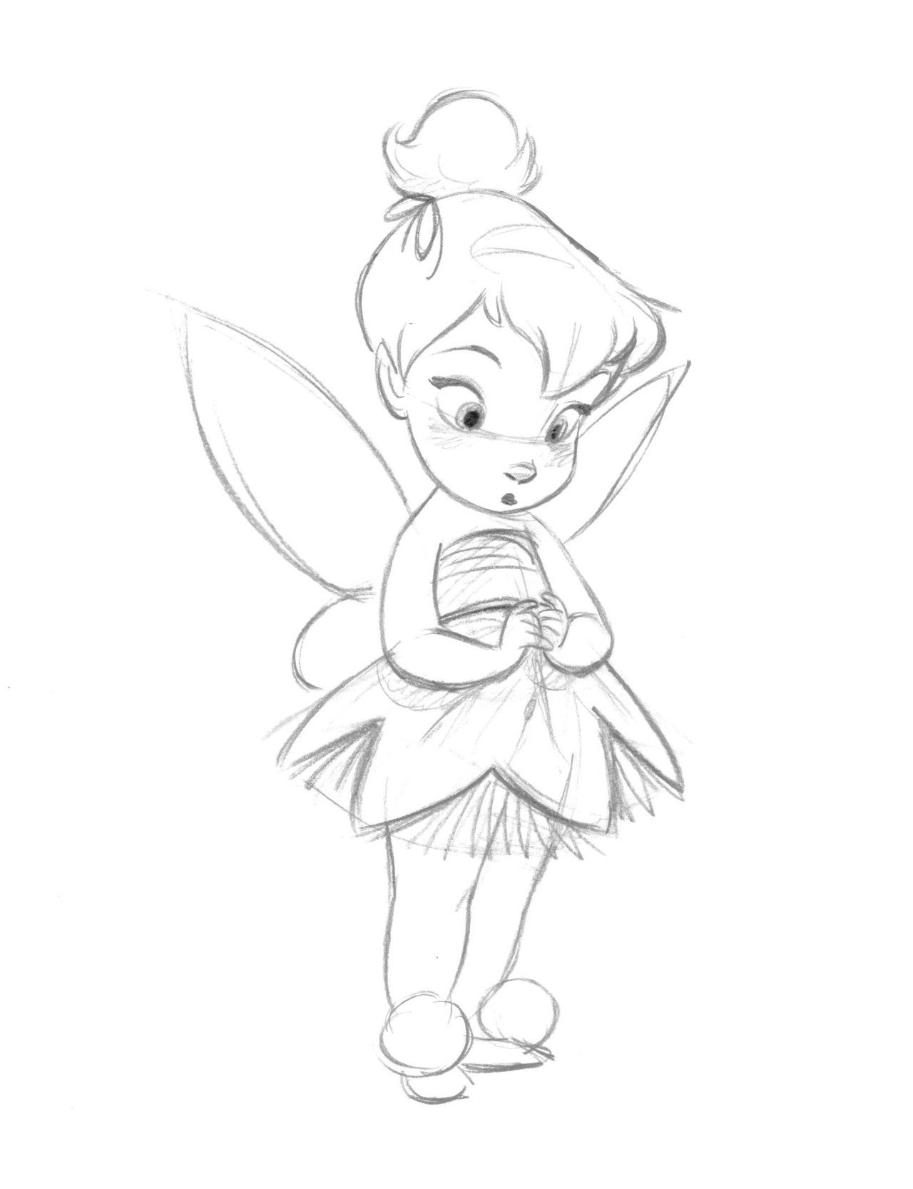 baby tinkerbell coloring pages - photo#10
