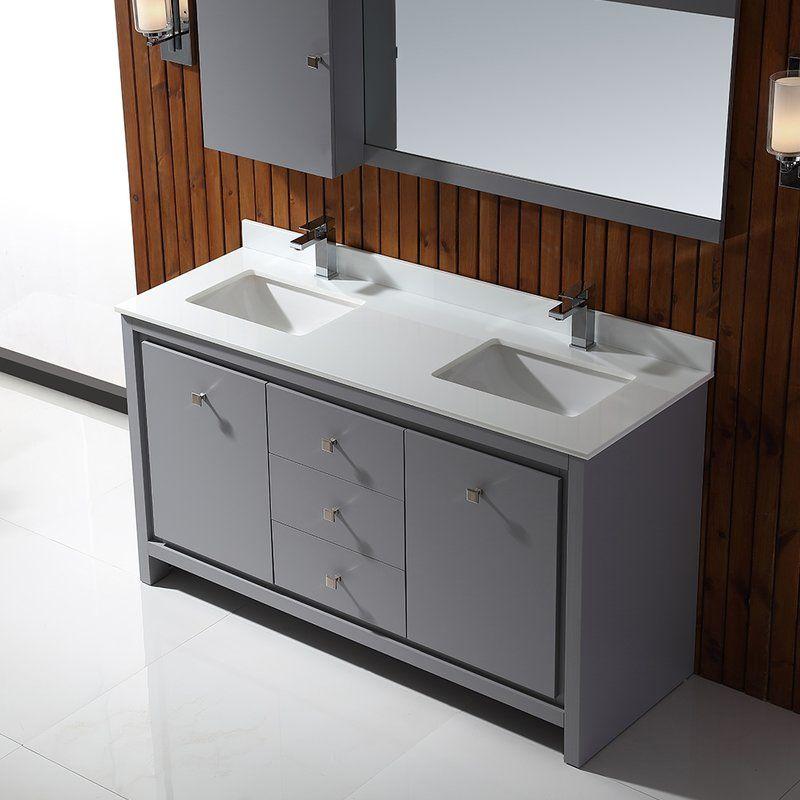 Kevin 60 Double Bathroom Vanity Set Bathroom Vanity Double