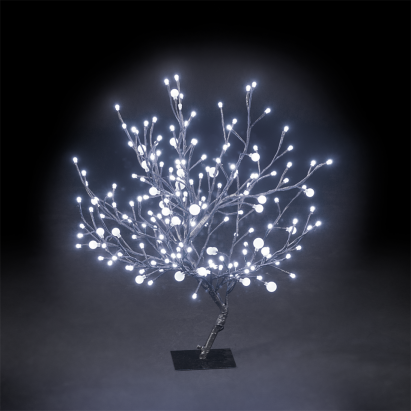 67cm 26in Outdoor Indoor Dual Size Globe Tree With 192 Ice White Leds Christmas Xmas Decoration Cherry Blossom Tree Tree Indoor Outdoor
