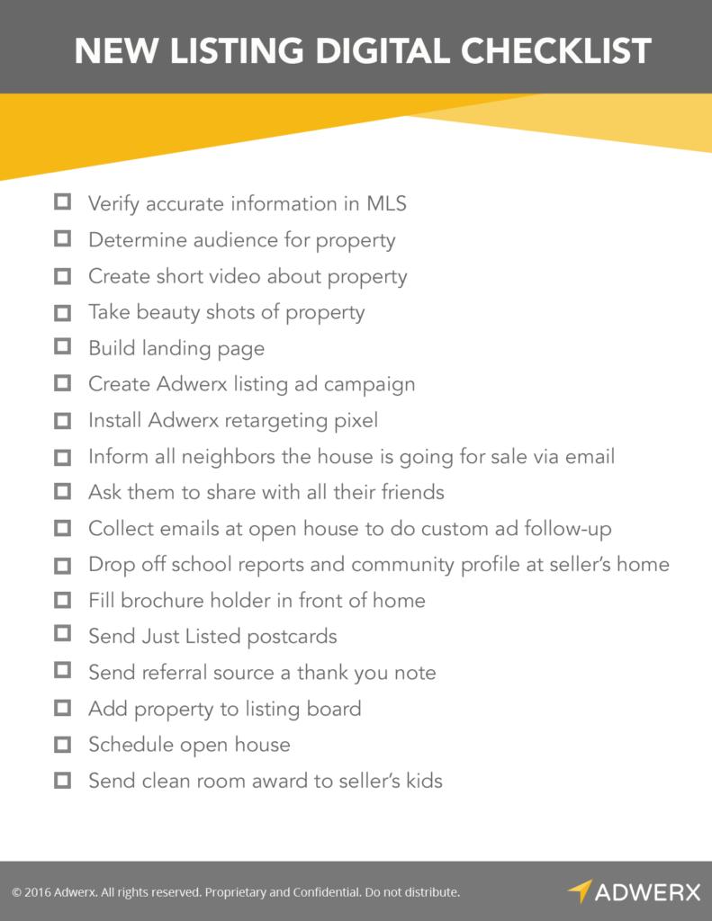 Digital marketing checklist for new real estate listings | Estate ...