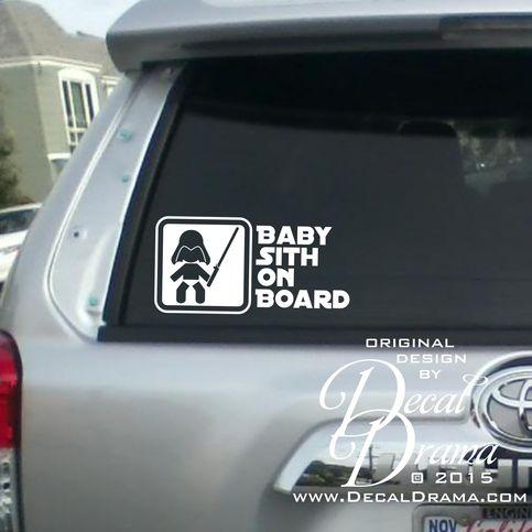 Baby Sith On Board Vinyl Sticker Car