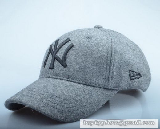 New Era MLB New York Yankees Baseball Cap Autumn Winter Thick cap Wool hat  Outdoor Sports Caps Gray f4a8c8ad53aa