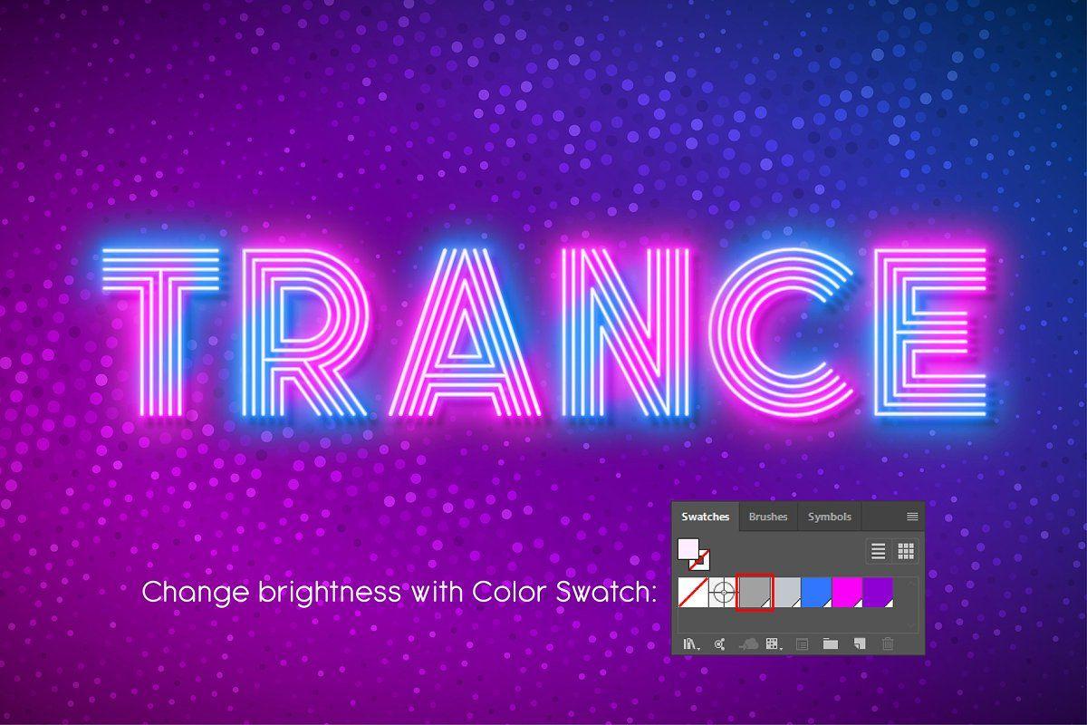 Neon light alphabet, multicolored , AFF, alphabetAdobe
