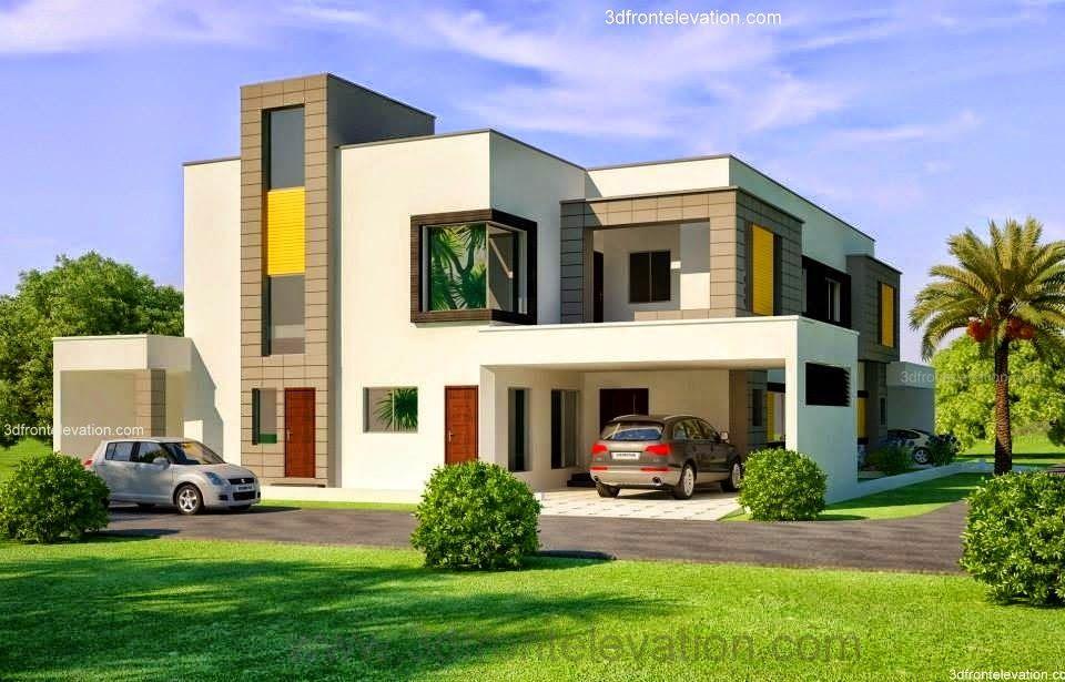 1 Kanal Corner Plot @ 2 House Design Lahore Beautiful House 1 Kanal Modern  3D Front
