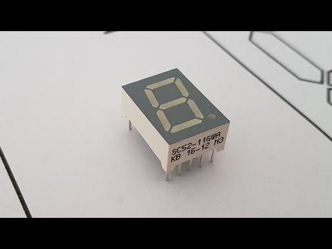 Eine 7-Segment-Anzeige ansteuern mit CMOS 4543 - YouTube