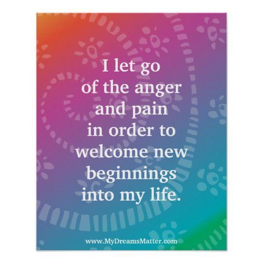 Positive Affirmation Forgiveness Anger Management Poster