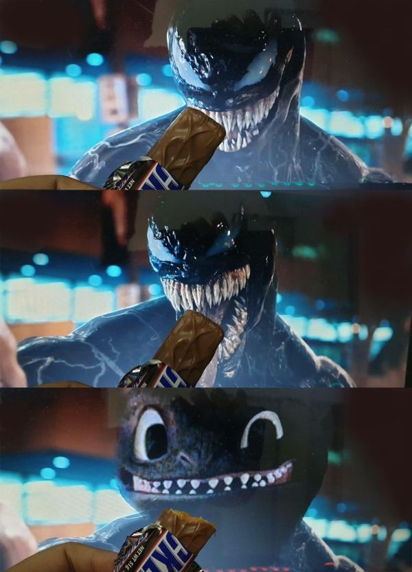 Hey Venom, Want Some Snickers? [Pic]
