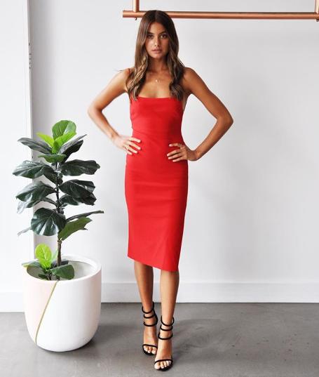 8221373c BEC & BRIDGE - MARVELLOUS MIDI DRESS - RED | Dresses in 2019 ...