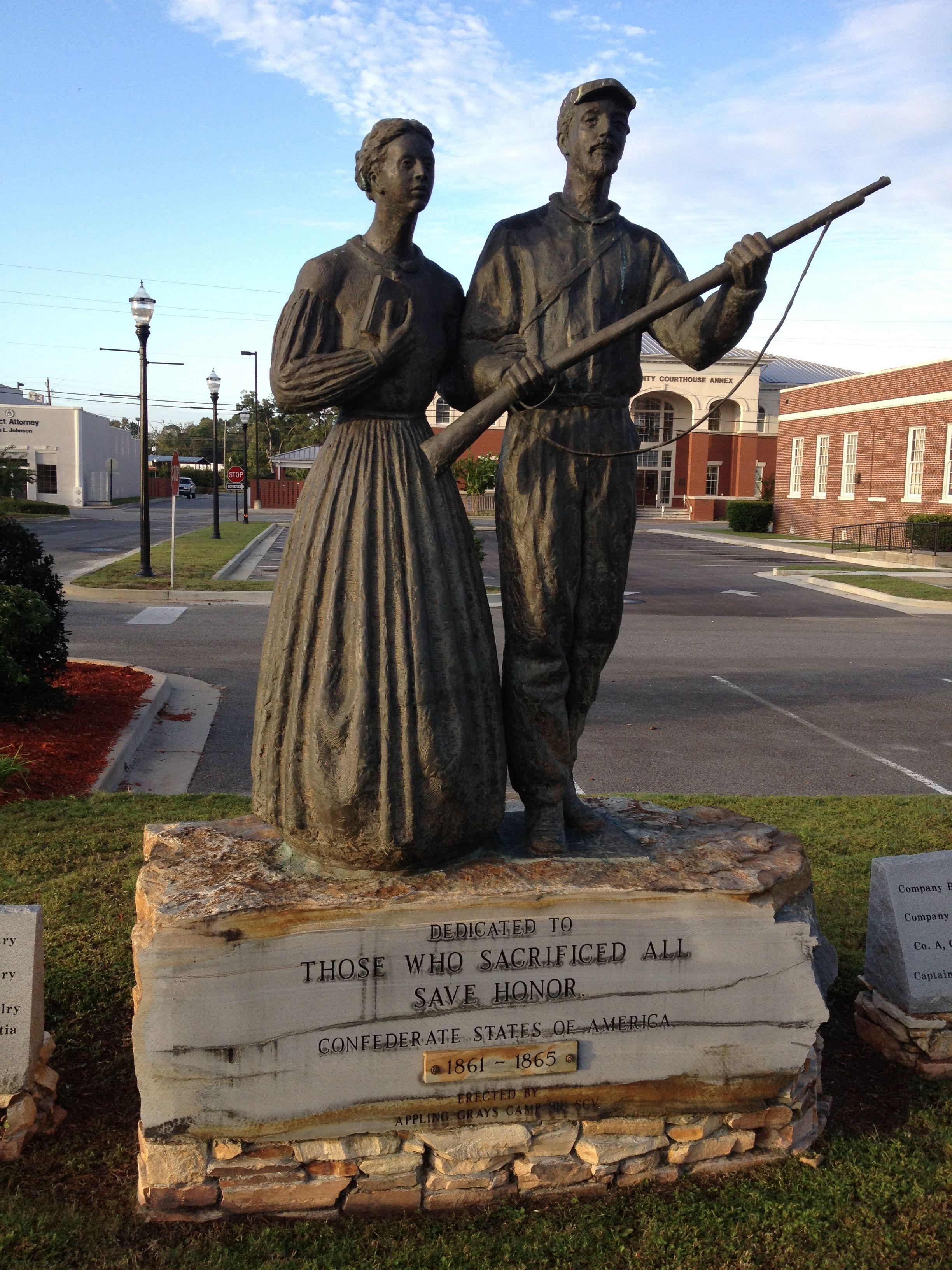 Confederate Memorial In Baxley Ga American Civil War Civil War