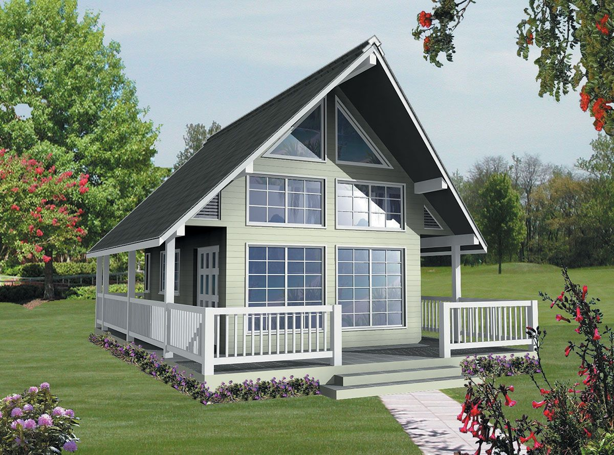 Plan 9804sw Vacation Cottage Or Guest Quarters A Frame