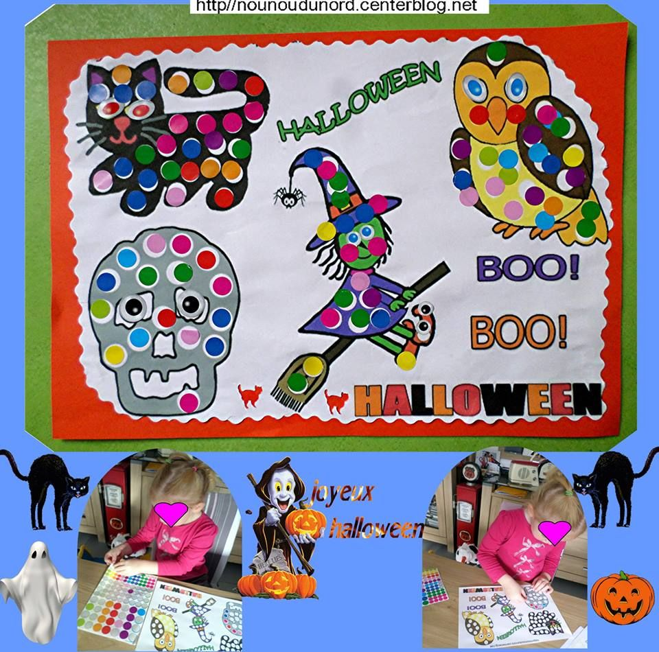 beau tableau d 39 halloween r alis par charlie 3 ans 2015 activit s halloween halloween et. Black Bedroom Furniture Sets. Home Design Ideas