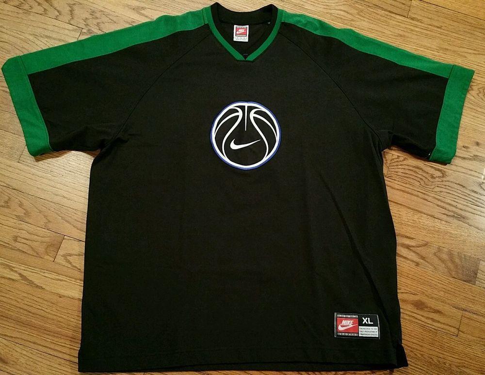 6b58e07686 Vintage Nike Team Sports red tag basketball v-neck Shirt Jersey Men s XL  (Big)  Nike  ShirtsTops