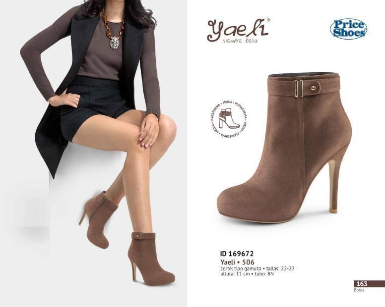 09ed7de895 Botas Price Shoes para Mujer de gamuza. El taco de las botas es de 11 cm.   BotasYaeli  Botas