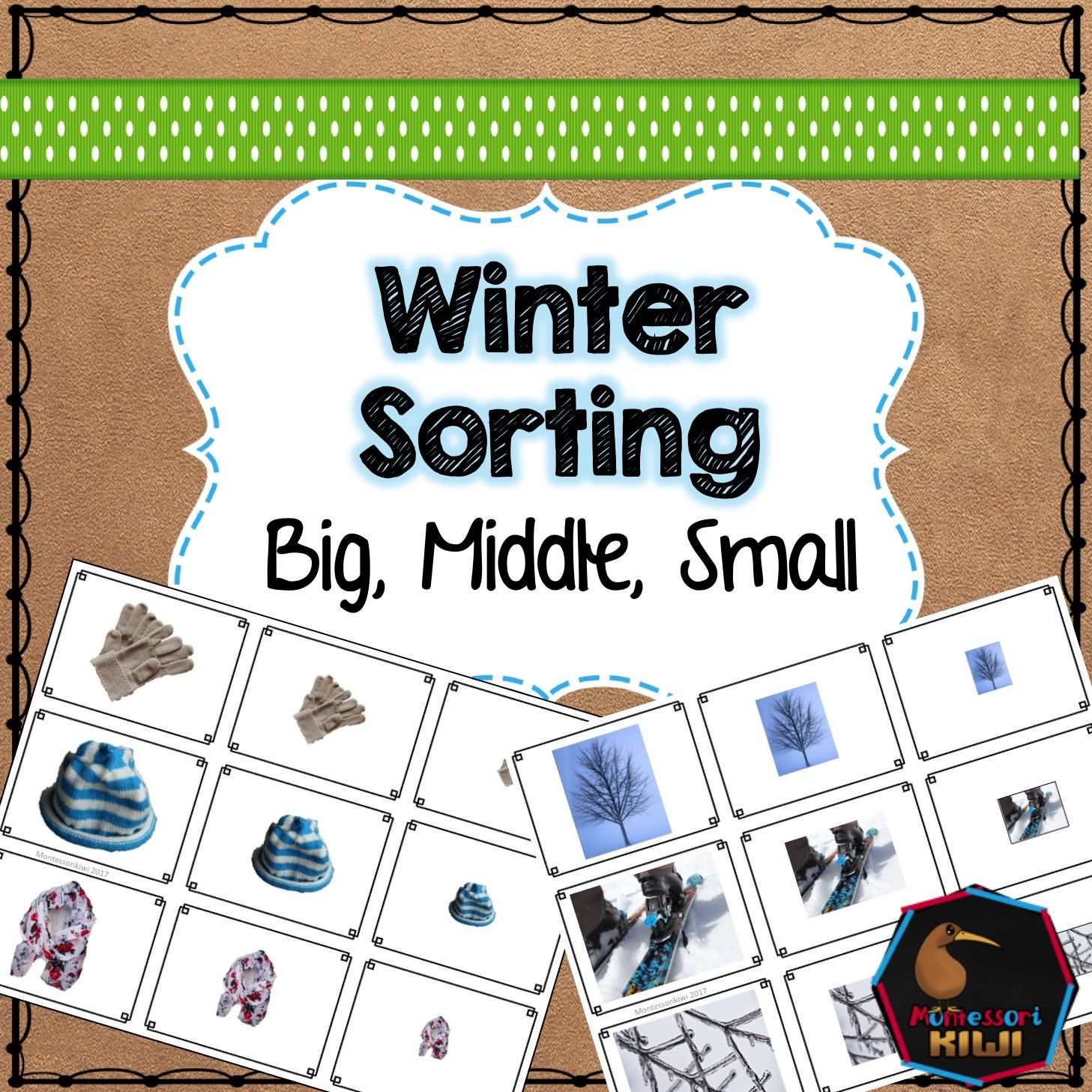 Winter Themed Math Sorting Great For Preschoolers With