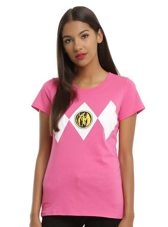 2093d987bd7 Mighty Morphin Power Rangers Pink Ranger Cosplay Girls Tee