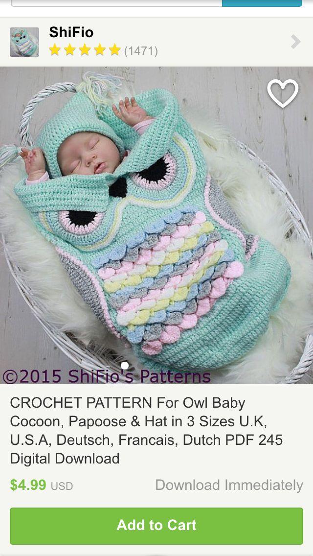 Owl cocoon | Ohhhhh Baby Zoe | Pinterest | Bebé
