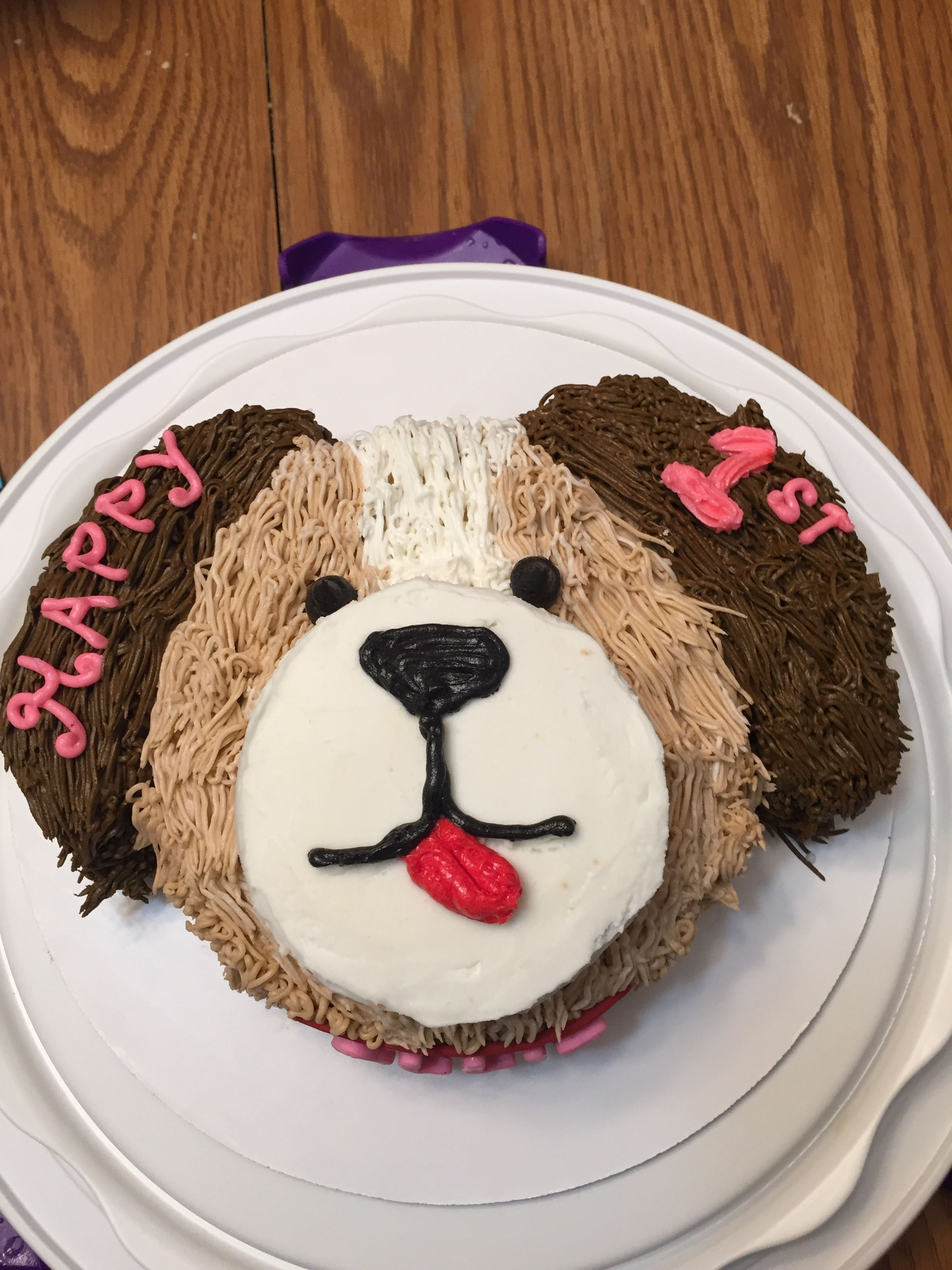 Strange Puppy Smash Cake With Images First Birthday Cakes Puppy Cake Funny Birthday Cards Online Drosicarndamsfinfo