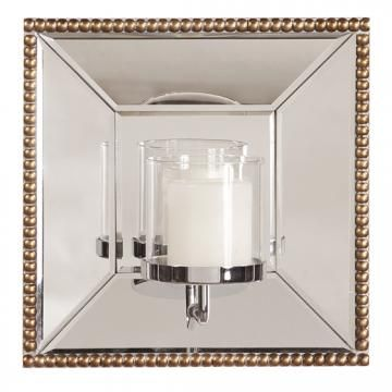 Lydia Mirror With Candle Holder Mirrored Candle Sconce