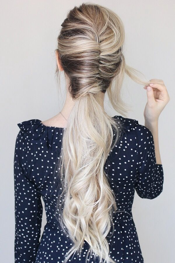 Today's hairstyle is this effortless french twist ponytail. Last week early morning I was taking the train into the city, and I noticed all the woman...