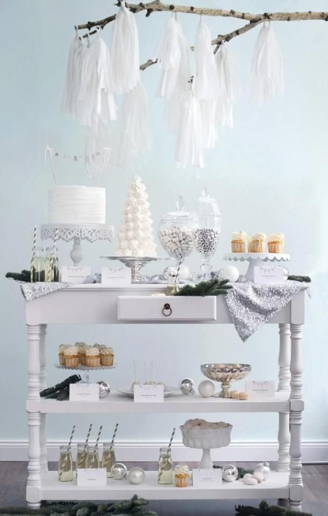 winter wonderland dessert table hochzeit in 2019 pinterest. Black Bedroom Furniture Sets. Home Design Ideas