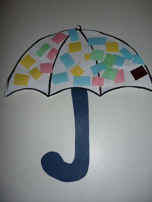 Bedwelming paraplu knutselen met peutertjes | Puk Thema: Regen | Pinterest #ZM43