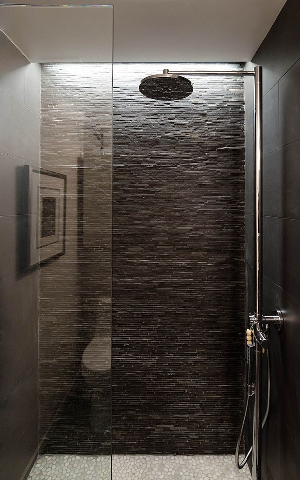 Houston Loft By C O N T E N T Architecture Stone Shower Stone