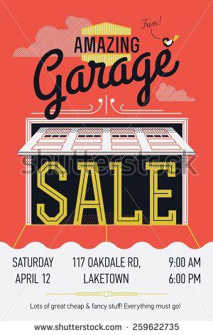 garage sales poster