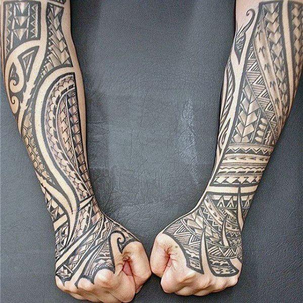 40 Polynesian Forearm Tattoo Designs For Men Masculine Tribal Polynesian Forearm Tattoo Samoan Tattoo Sleeve Tattoos
