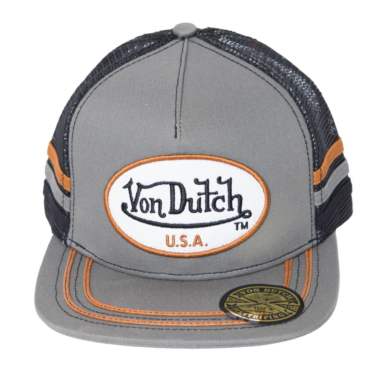 df7f09ef431 Von Dutch Men s OG Patch White Trucker Hat