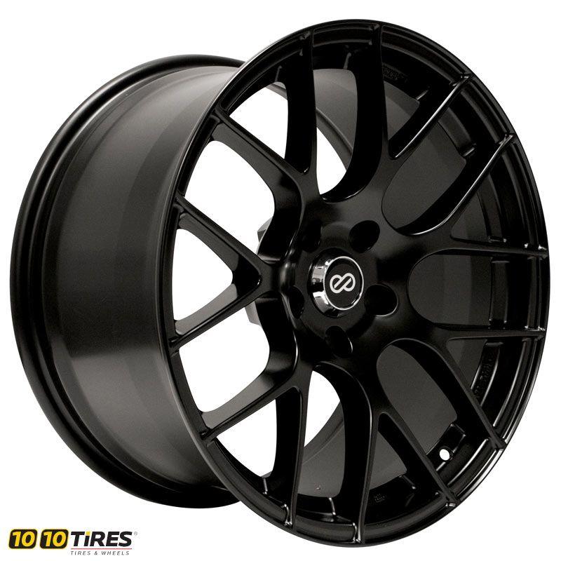 Enkei Raijin Painted Matte Black Rims For Cars Wheels And Tires Bolt Pattern