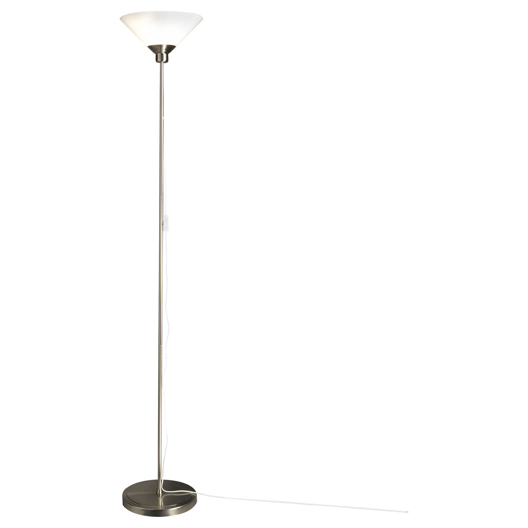 Kroby floor uplight with led bulb nickel plated glass cheap ikea kroby floor uplight with led bulb each shade of mouth blown glass aloadofball Choice Image