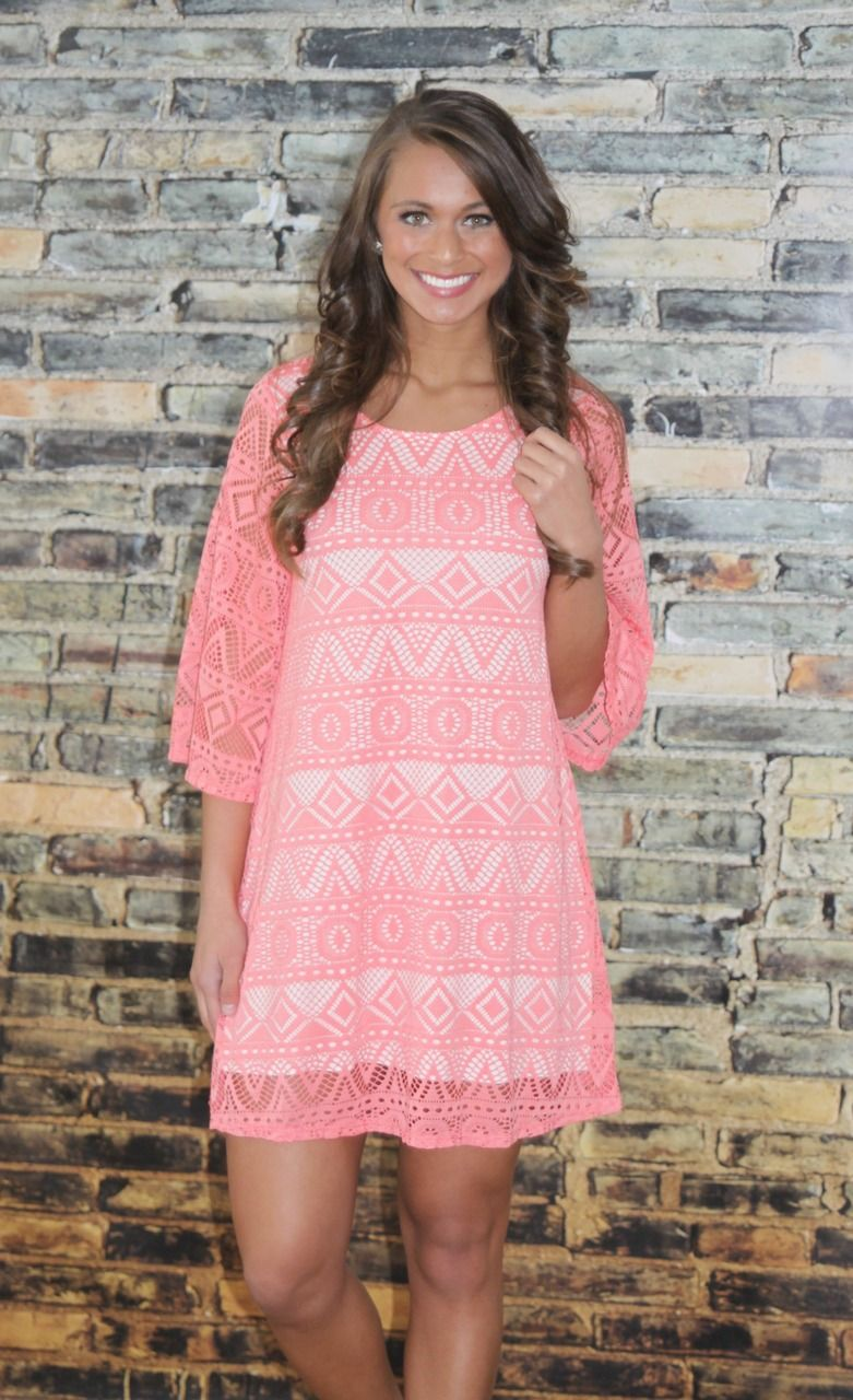 The Pink Lily Boutique - State of Grace Coral Dress, $39.00 (http ...