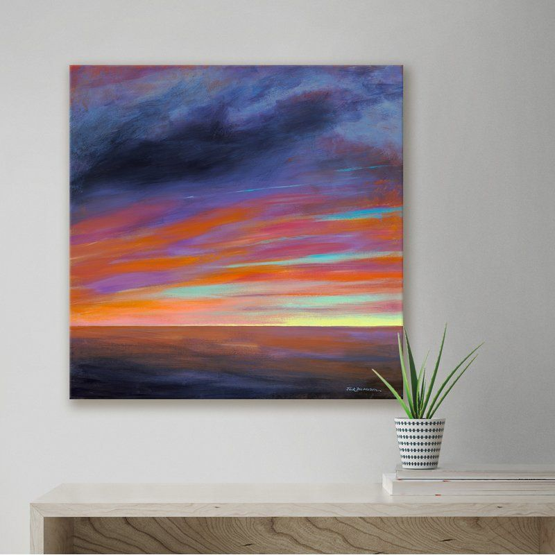 Sunset I By Jack Dickerson Painting Print On Wrapped Canvas 24x24 Painting Painting Prints Art