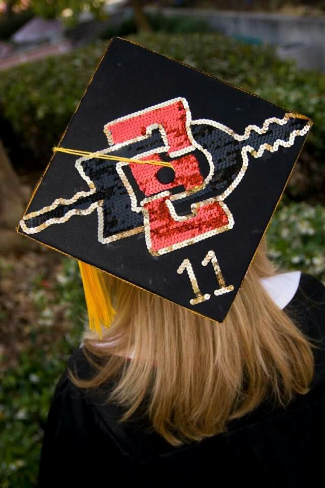 My SDSU graduation cap with sequins | Randomly Awesome ...
