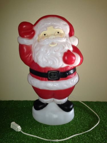 vintage 19 christmas empire waving santa lighted blow