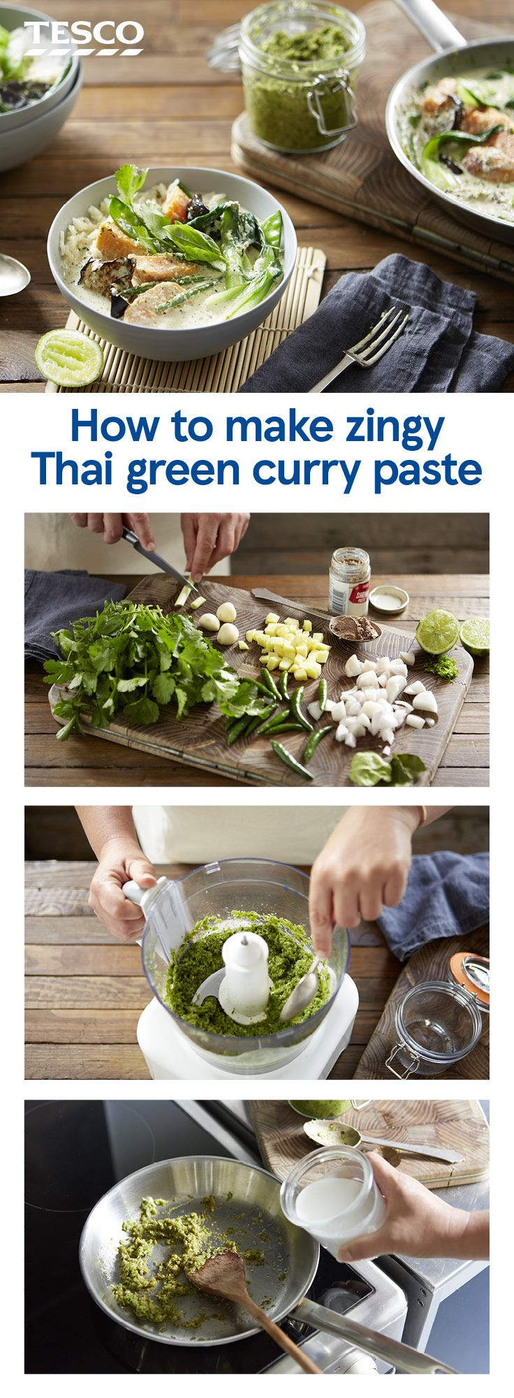 How To Make Thai Green Curry Paste Homemade Takeaway