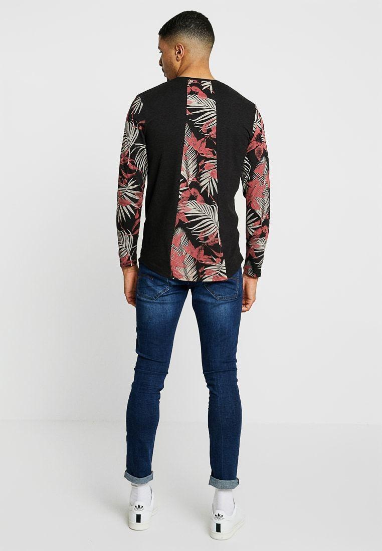 3c07e094e1e95 Jack & Jones JORGAN TEE CREW NECK - Long sleeved top - black - Zalando.co.uk