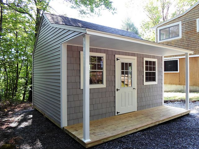 83 12x16 Lexington Colonial Vinyl Guest House Shed Shed Shed To Tiny House