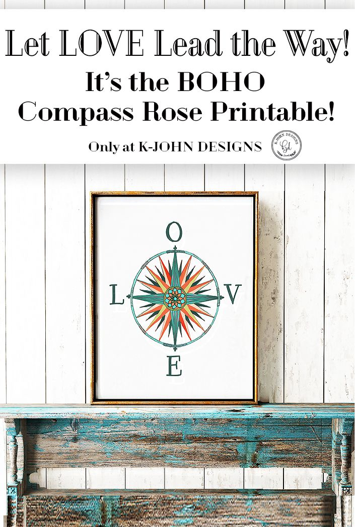 This Inspirational Boho Comp Rose Digital Print Is An Original Design Let Love Lead The Way Found Only At Kjohn Designs