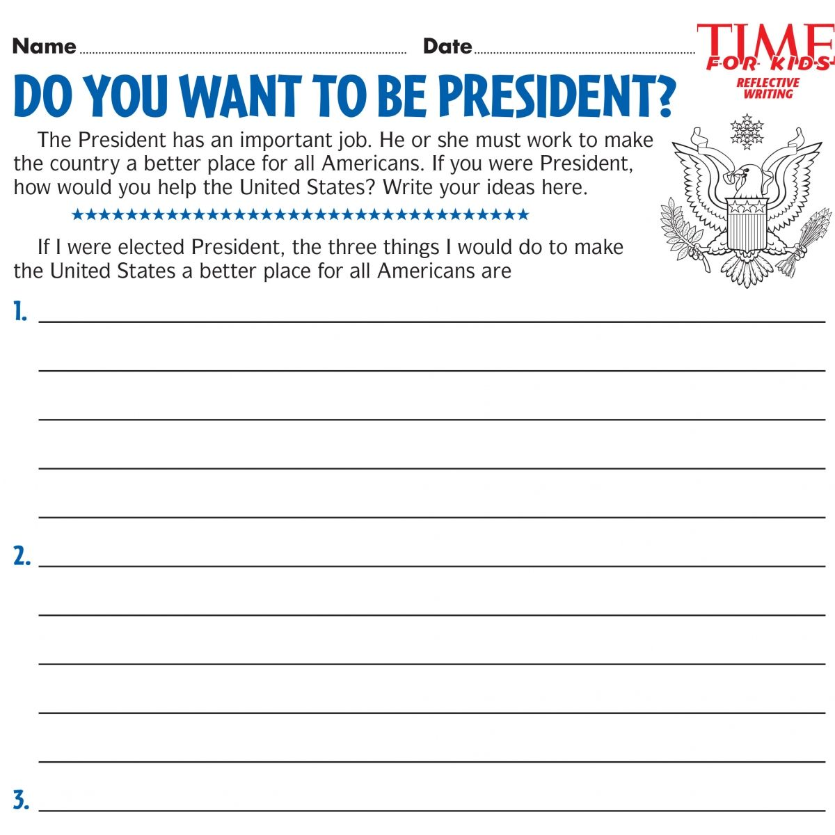 Election Time For Kids Printables