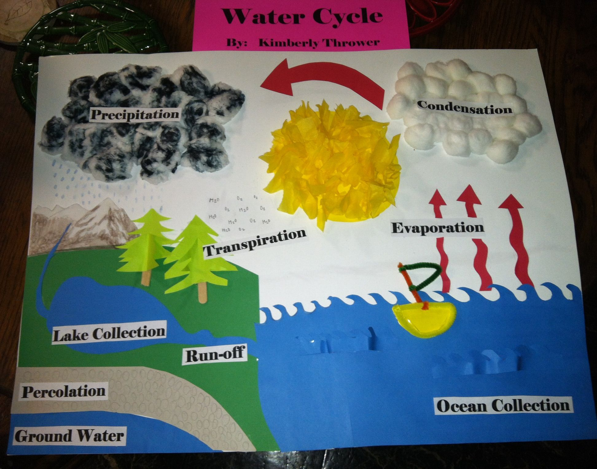 My sweet daughter   water cycle project  think she did an amazing job also rh pinterest