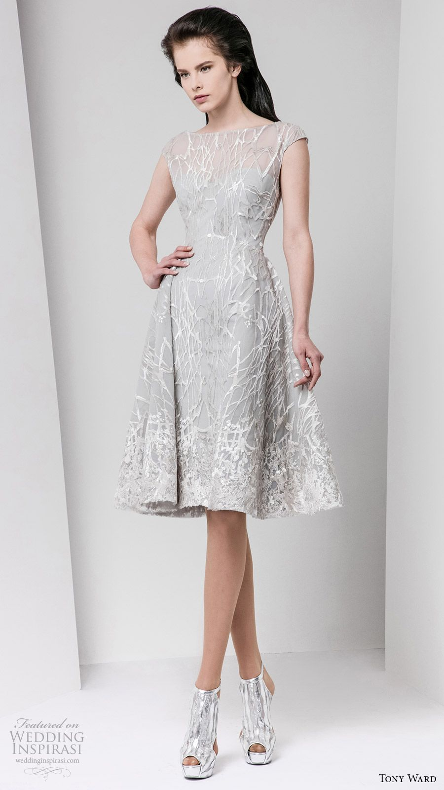 Tony ward fall readytowear dresses grey weddings fall