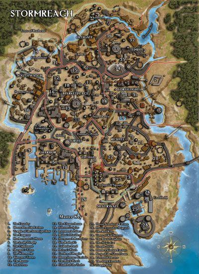 stormreach - Google Search | RPG Maps | Fantasy city map, Fantasy