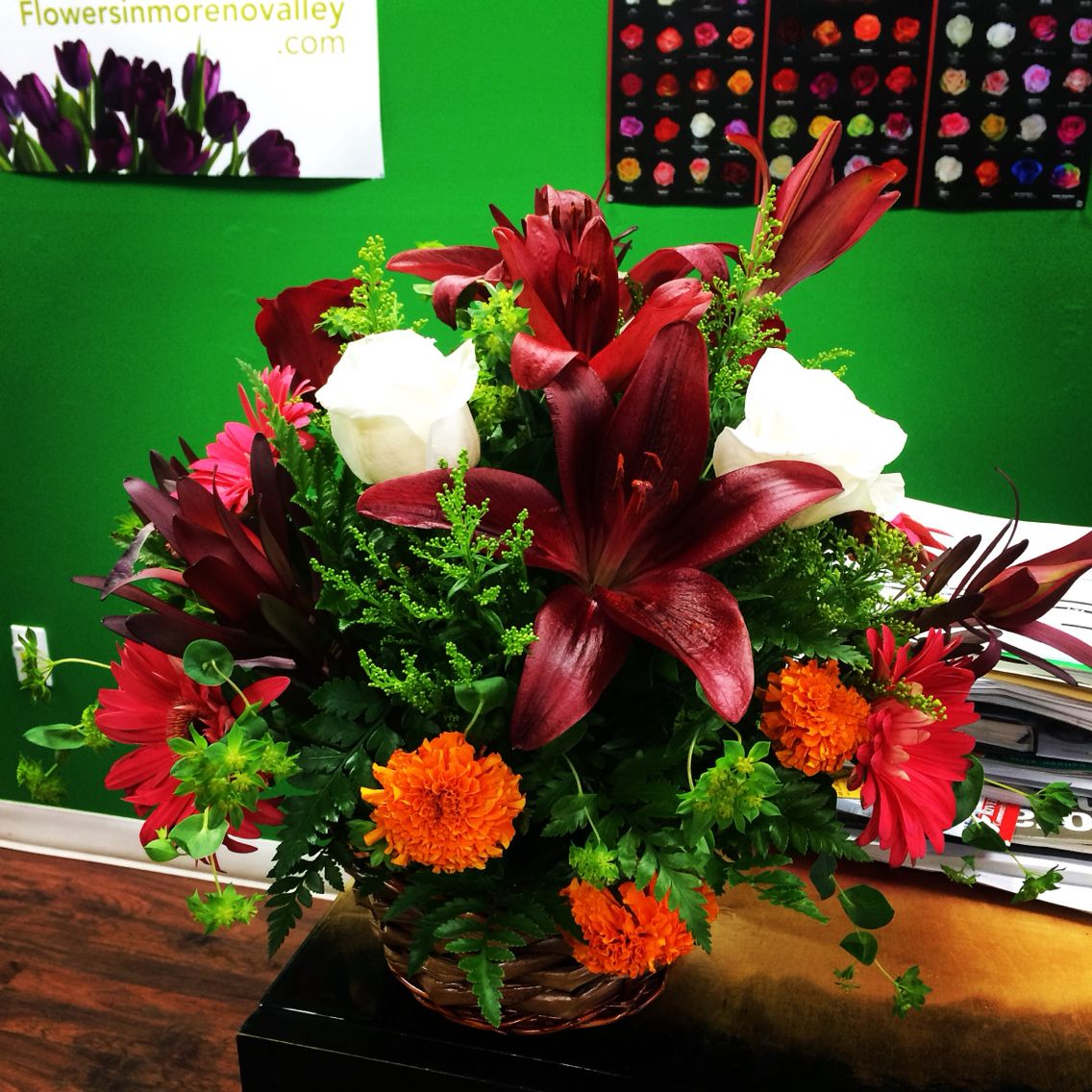 Todays Mix Flower Basket Arrangement Send Birthday Flowers