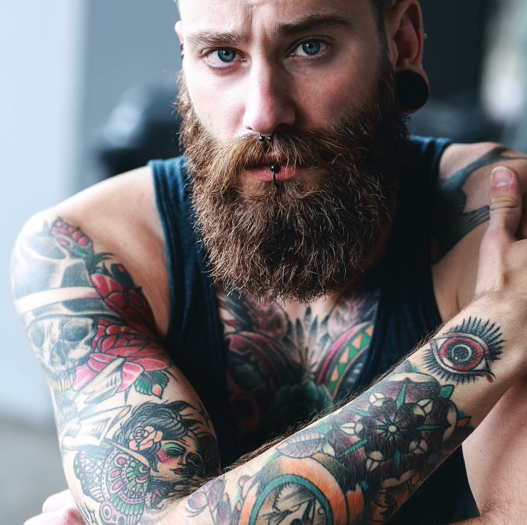 The ubiquitous beard tattoos 18 pinterest by on for Bearded tattooed man