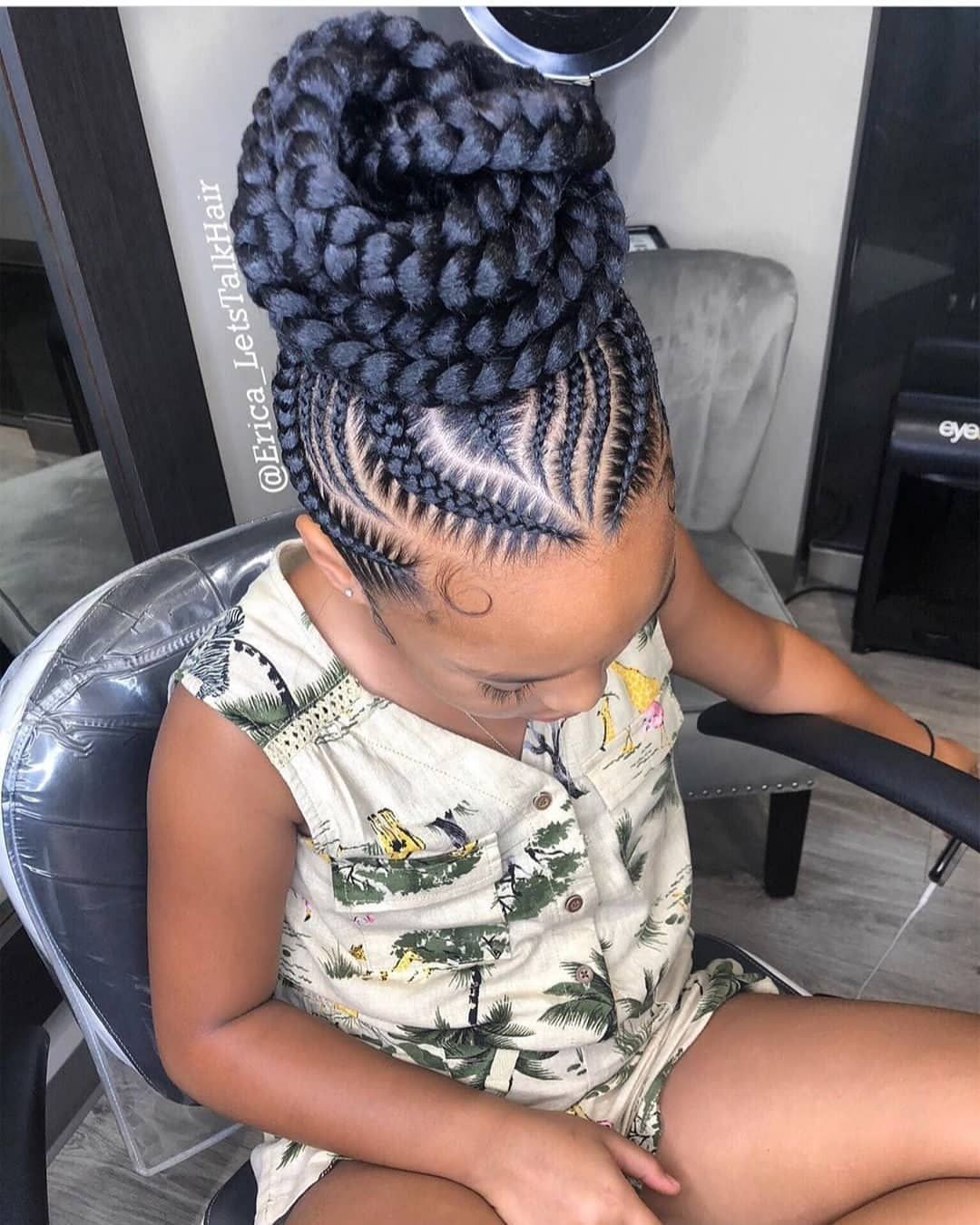 Top African Hairstyles On Instagram Neatly Braided Erica Letstalkhair Bunlife Topkn Cornrow Hairstyles Braided Cornrow Hairstyles Cool Braid Hairstyles