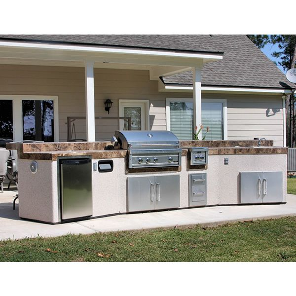 signature living curved custom outdoor kitchen c 01 woodlanddirect com grilling islands on outdoor kitchen island id=34225