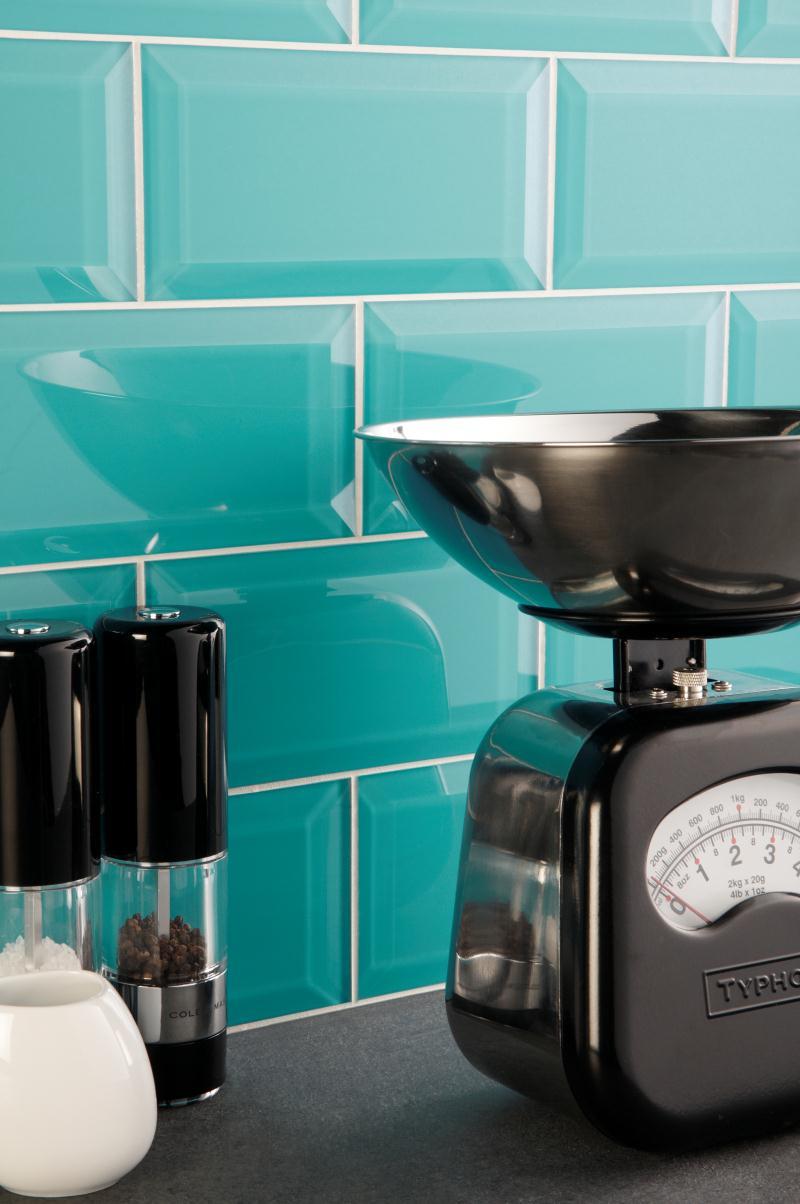 Beveled glass makes such a pretty back-splash! | Aqua, Turquoise ...